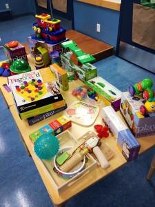 Exhibition of toys that help develop children's different skills.